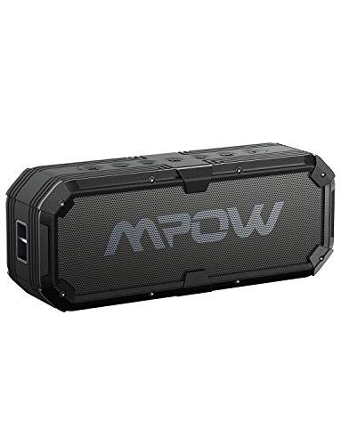 Mpow MPBH080AB tragbare Wasserdicht +Bass, 22 Stunden mit Dual 8W Treiber,Freisprecheinrichtung mit eingebautem Mikrofon für iPhone,Tablet,Laptop usw. Bluetooth Lautsprecher
