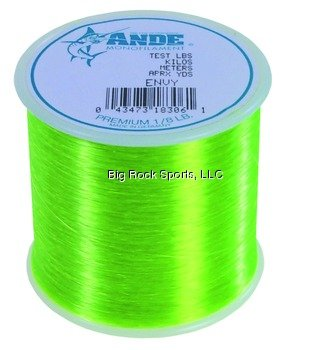 Ande A18–8 GE Premium MONOFILE ANGELSCHNUR 1/8-pound Spule, 8-pound Test, Bright Grün Finish