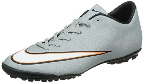 Nike Mercurial Victory V TF CR Herren Fußballschuhe Grau (Mtllc Silver/Blk-Hypr Trq-Blk)