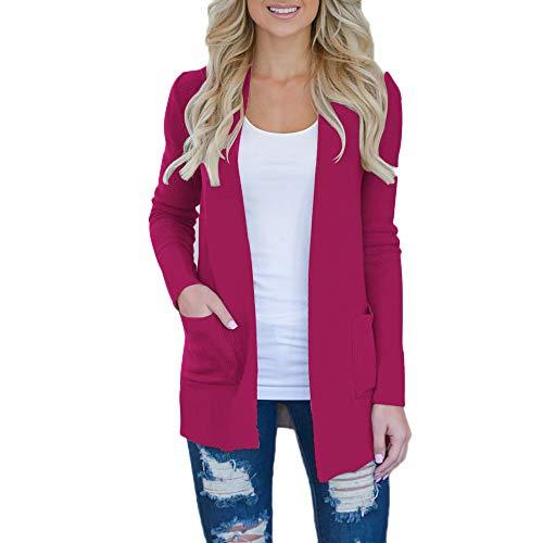 Zyueer cappotto per donnaaperto donna lana moda cardigan in maglia giacca autunno inverno leggero eleganti blazer coprispalle manica lunga ragazza giubbotto giacche outwear top