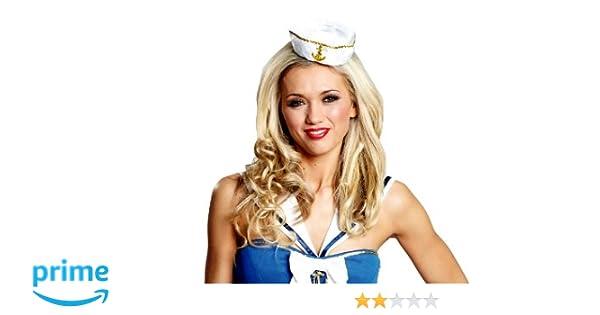 Mini Hut Matrosin weiß Miniatur Matrosenmütze Damen Minihut Matrosen Mütze