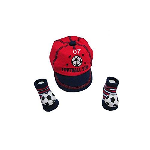 a85d5e45926d Poussin bleu - Casquette et chaussettes football pour bébé