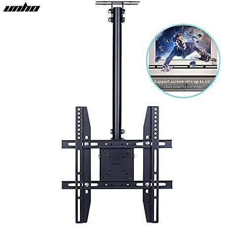 UNHO Adjustable Ceiling TV Mount Fits Most 26-55