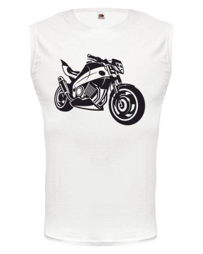 buXsbaum® Tank Top Motorbike V2 White-Black