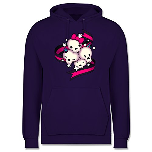 Statement Shirts - Cute Skulls - Männer Premium Kapuzenpullover / Hoodie Lila