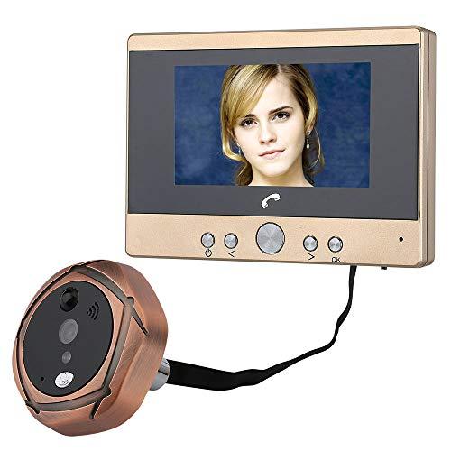 4,3-Zoll-Videoüberwachung Katzenauge Türklingel TFT-Farbbildschirm, Digital-Intercom-Tür-Spiegel-Kamera und Videokamera, Infrarot-Nachtsicht-Kamera / PIR-Bewegungsmelder, mit dem menschlichen Sensing -