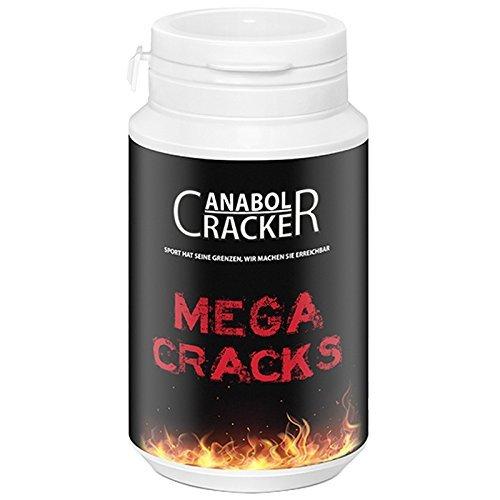 Mega Cracks, Muskelaufbau Anabolika, 90g Dose, Testosteron /  Trainings  Booster Supplement (Anabolika Booster Testosteron)