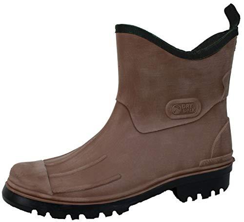 Ultrapower Herren Gummistiefel | Halbhoch | Gummihalbstiefel | Brushed Design | Größen 41-46 | GS1, Größe:43 / UK 9, Farbe:Brown
