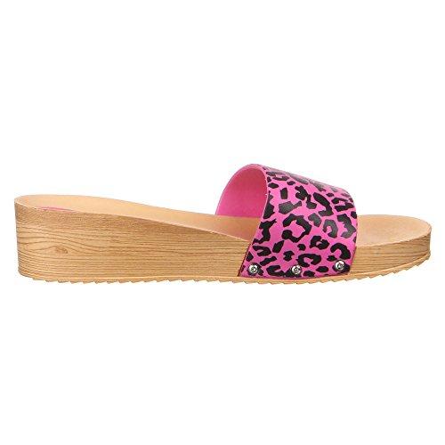 Schuhe Plateausandale Sandalen Damen Pink Moderne 4pdZv4qn