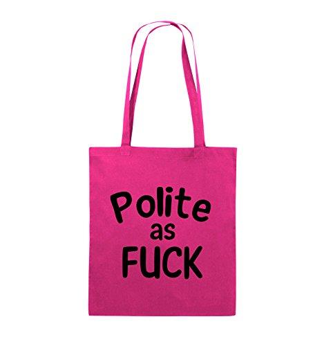 38x42cm Farbe Schwarz Polite Schwarz FUCK Pink Comedy Bags Pink as Henkel lange Jutebeutel g8nR0qw