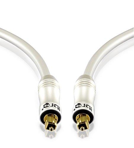 Cavo Ottico - IBRA Cavo Toslink 2m (metri) - Cavo Fibra Ottica Audio Digitale - per PS3 PS4 SKY SKY+ SKYHD XBOX One Blu-ray CD DVD Amplificatori AV - Pearl Series