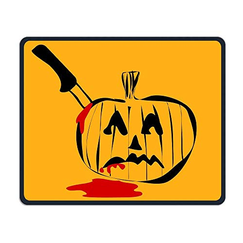 Mouse Pad Halloween Tease Logo Rectangle Rubber Mousepad Length 8.66 Width 7.09 inch Gaming Mouse Pad with Black Lock Edge Tease Mini