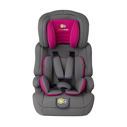 Kinderkraft Comfort UP Kinderautositz Autokindersitz Kindersitz 9 bis 36 kg Gruppe 1 2 3 Rosa