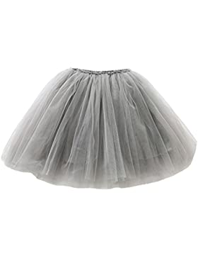 Happy Cherry - Falda Tutu con Capas de Danza Ballet Fiesta Boda Cumpleaños para Niña Princesa Cintura Elástica
