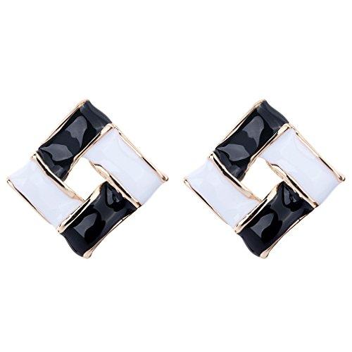 yazilind-schmuck-vergoldet-quadrat-schwarzem-email-stus-ohrringe-accessoire-frauen-geschenk-ideal