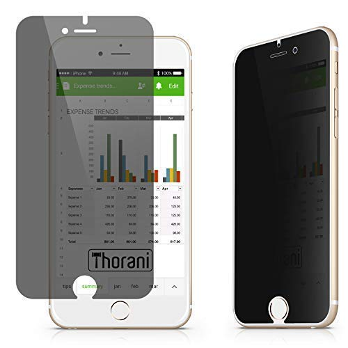 Thorani Privacy Filter kompatibel mit Apple iPhone 6, 6s, 7 & 8 I Blickschutzfolie I Displayschutz mit Anti-Spy Funktion