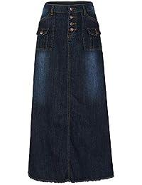 4ee162751b12 Amazon.fr   jupe longue jean   Vêtements