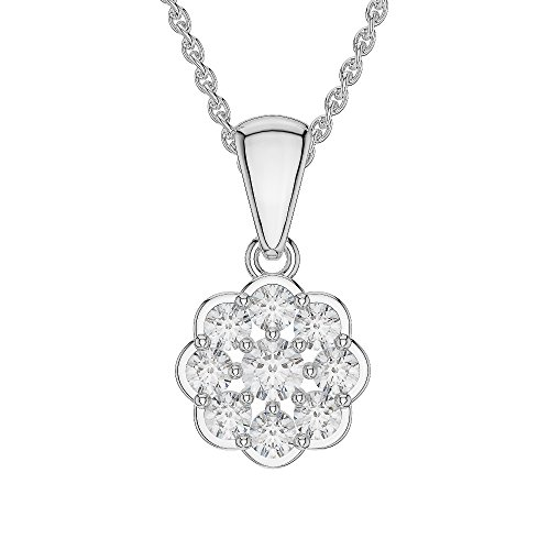 Or blanc/or/Rose/Jaune/Or/Platine Diamant Collier grappe agdnc-1022-vsgh