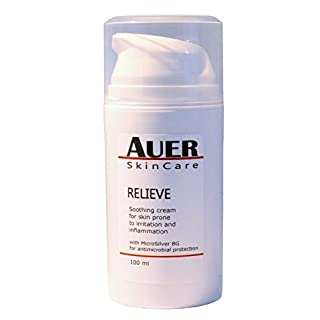Auer Relieve Cream 100 ml - Soothing treatment for skin prone to irritation and inflammation with MicroSilver BG for anti-microbial protection