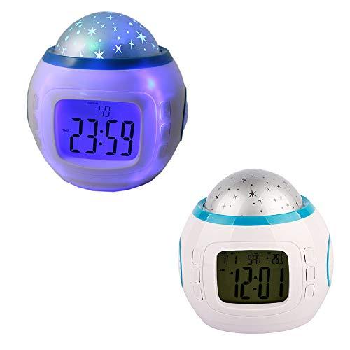 Reloj despertador Música LED Estrella Proyección