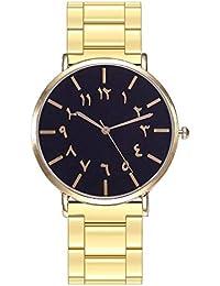 394a34edae6d MISSWongg Reloj Reloj Analógico para Cuarzo Cuarzo de Negocios de Lujo  Acero Inoxidable Correa de Empalme de