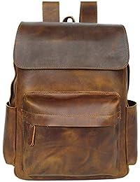 8667fe9ffd MRXUE Zaino In Pelle Unisex Artigianale Vintage Zainetto Zaino Per Un  Massimo Di 13 Pollici Laptop