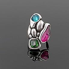 Anillo hecho a mano de zamak y resina, uno de 50 style ring, zamak ring, anillo.