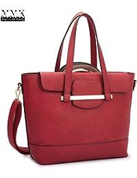 Mmk Collection Fall~Winter Color Handbag~ New Fashion 2 In One Satchel Handbag And Tote Bag Set~Beautiful Handbag...
