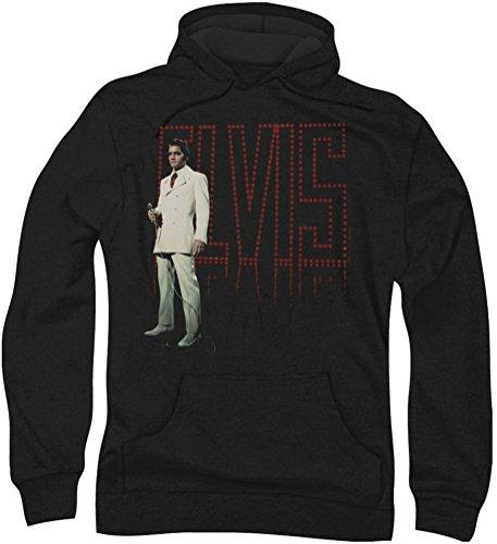 Elvis Presley - - Herren Weißer Anzug Hoodie, Large, Black - Elvis Hoodie