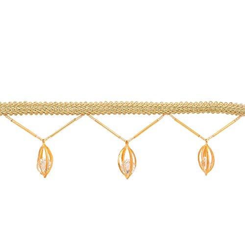 Goldene Schnur Quaste neue Perlen Fringe Trim Nähen Kostüm Handwerk von der Werft