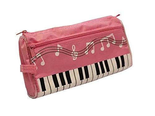 Pink Music Theme-Taschen kosmetischen Feder-Bleistift-Beutel-Kasten 11 * 21cm