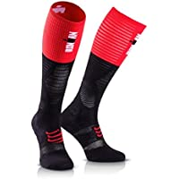 Compressport Medias de Compresion-Full Socks UltraLight Racing - Ironman 2017 Rojo/Negro - T3