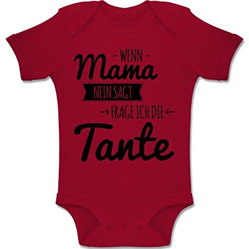Shirtracer Sprüche Baby - Wenn Mama Nein SAGT frag ich die Tante - 3-6 Monate - Rot - BZ10 - Baby Body Kurzarm Jungen Mädchen