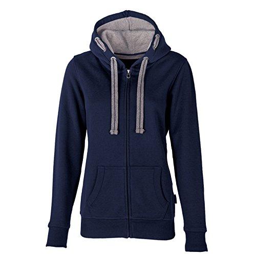 HRM Damen Jacket F Kapuzenpullover, Blau (Navy 4), Large