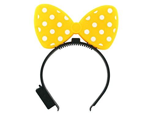 Haarreifen mit gepunkteter Schleife blinkend alle Farben, Farbe wählen:Schleife - Lichter Halloween Blinky