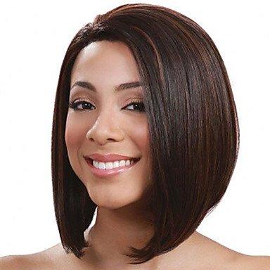 Damen Kunsthaar Perücke kurz gerade schwarz/medium auburn mittleren Teil Bob Ombre Hair Bob Haarschnitt natur Perücken Kostüm Perücke (Kostüm Für Verkauf Billig)