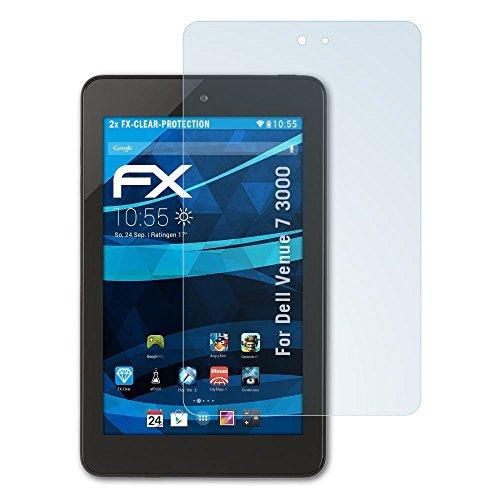 atFolix Schutzfolie kompatibel mit Dell Venue 7 3000 Folie, ultraklare FX Bildschirmschutzfolie (2X)