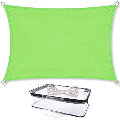 Sonnensegel Sonnenschutz Garten   UV-Schutz PES Polyester wasser-abweisend imprägniert   CelinaSun 1000570   Rechteck 3,5 x 5 m grün (Uv-schutz-stoff)