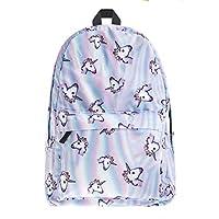 حقيبة ظهر للنساء من قماش أوكسفورد وحقيبة مدرسية من موشيلا