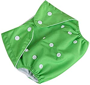 Tomar Trading Cloth Diapers for Babies, Washable Reusable, Adjustable Size (Pack of 1) (Green)