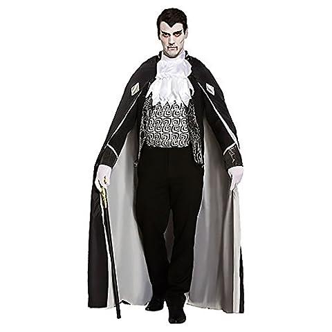 Costumes De Luxe Pour Homme Halloween - 4 Pièces De Luxe Noir Hommes Gris
