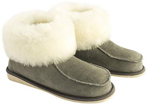 Yeti & Sons ,  Damen Mokassin Stiefel, Grau - grau/weiß - Größe: EU 40