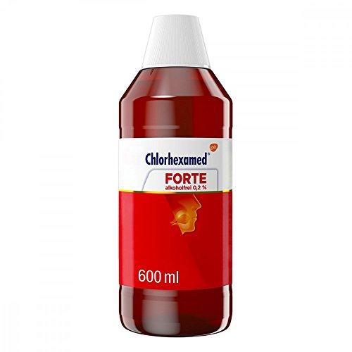Chlorhexamed FORTE Alkoholfrei 0,2%, Medizinische Mundspülung mit Chlorhexidin, 600 ml, bei bakteriell bedingter Zahnfleischentzündung