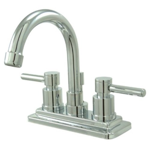 Kingston Messing ks8661dl Concord Twin Hebel griffe 4-Zoll WC Wasserhahn, Chrom poliert -