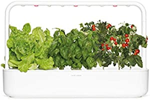 Click & Grow 9 Smart Garden 9 – Jardinera de Interior, Color Blanco, 60.5 x 18.5 x 40 cm