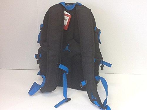 Nike Jumpman Laptop Basketball Gro?er Rucksack mit Schuhablage, Schwarz / Royal Blue (Nike Basketball-zubehör)