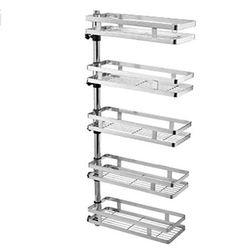 Gewürzregale Rotation Spice Rack 304 Edelstahlküche Rack Wall-montierte Multi-Function-Speicher-Pendant,fivelayers