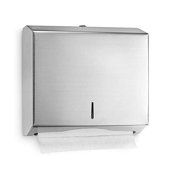 ASkyl Steel305 Multifold Hand Towel Toilet Paper Holder Dispenser for Washroom