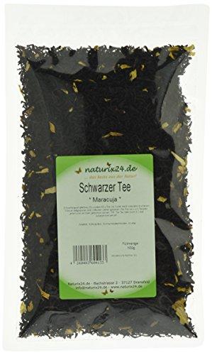 Naturix24 Schwarztee Maracuja, 4er Pack (4 x 100 g)