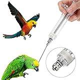 Eillybird - Mangiatoia per Uccelli, per pappagallini, calopsitte, pappagalli, siringhe per Uccelli e Animali